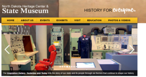 ND Heritage Center and State Museum website screenshot