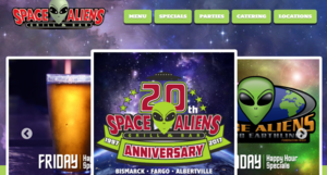 Space Aliens Bar and Gril website screenshot